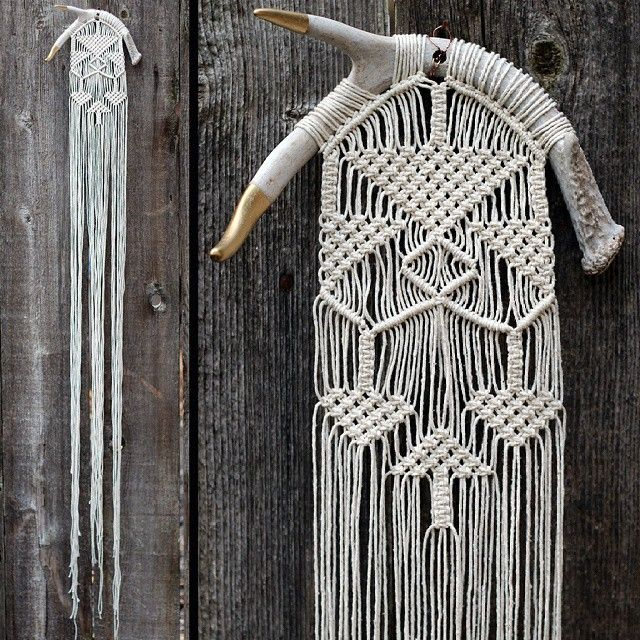 antler macrame by free creatures