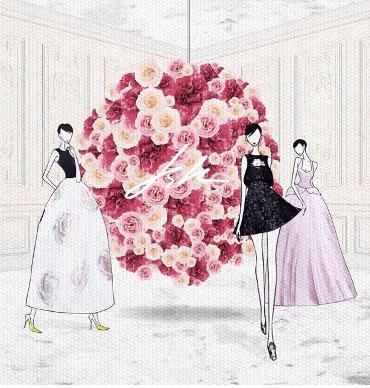 Jaesukkim # Flowerbomb # Dior # hautecouture # fashiondesign# fashionart #