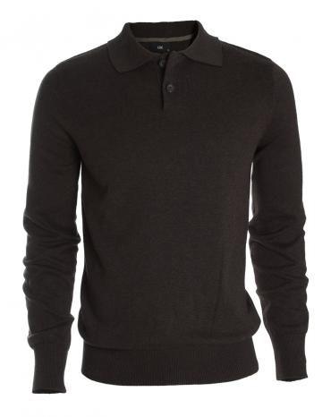 Sweater con cuello tipo polo, muy suave al tacto.
