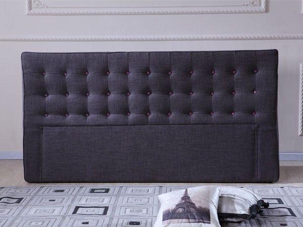 Stockholm Sengegavl Orchid-grå Tekstil