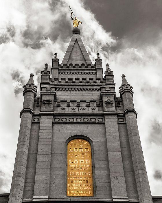 Golden Slc Temple Photograph by La Rae Roberts