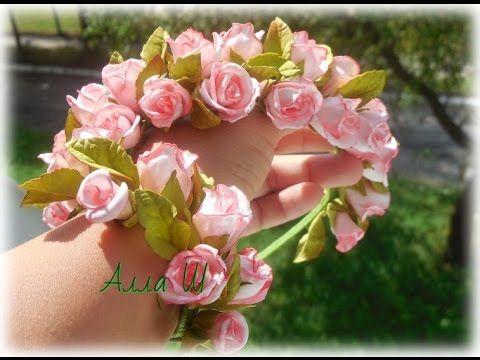 Мастер класс.Как собрать в ободок розы из фоамирана.Татьяна Девятьярова - YouTube