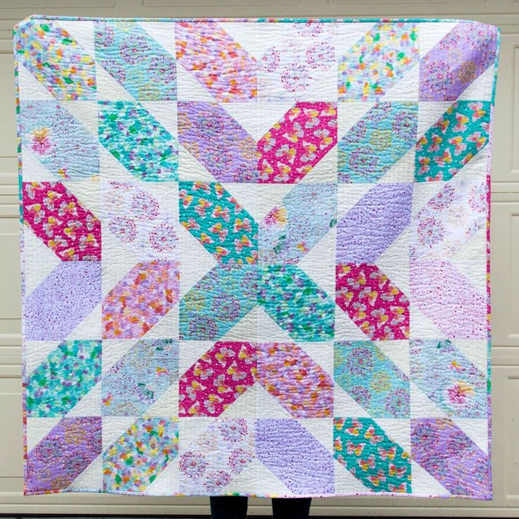 Fat Quarter Fancy - Free Quilt Pattern using 9 Fat Quarters!
