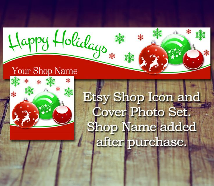 Etsy Shop Cover Photo and Shop Icon - Etsy Store Photo, Etsy Cover Photo, Etsy shop Icon, Christmas Cover Photo, Holiday Shop Icon by LittlePrintsOttawa on Etsy