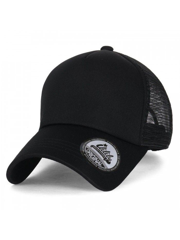 Plain Baseball Cap Simple Mesh Snapback Color Trucker Hat All Black Cq12ju4pdhd Plain Baseball Caps Hats For Men Mens Hats Fashion