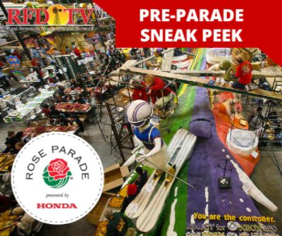 Win a grand prize Rose Bowl package that includes four tickets to the Rose Bowl game on New Year's Day, VIP viewing seats at the Tournament of Roses Parade, plus backstage passes to see the floats at the pre-parade show.