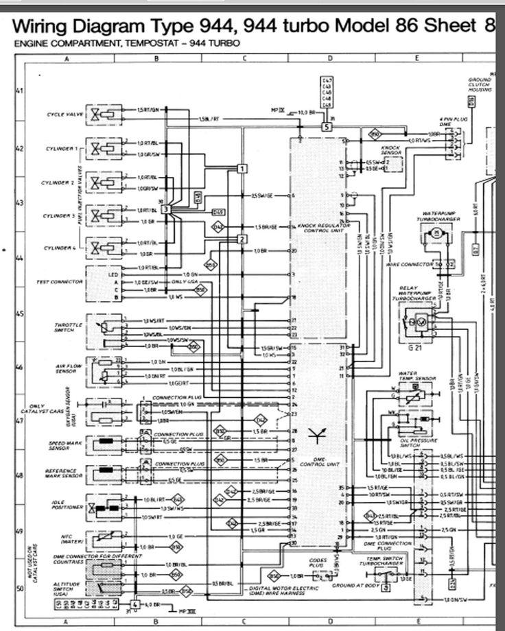 1988 porsche 944 wiring diagram wiring schematics and diagrams rh prags co porsche 944 turbo dme wiring diagram porsche 944 dme relay wiring diagram