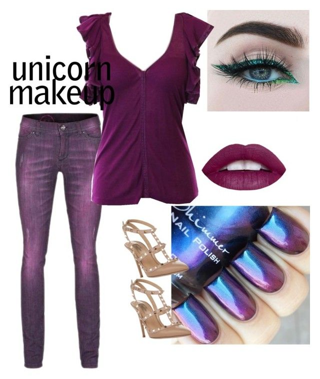 """""""Purple unicorn"""" by wardrobepieces on Polyvore featuring Camouflage Couture, Robert Rodriguez and Valentino"""