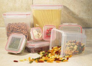 """COOKPRO 622 STORAGE CONTAINERS 14PC SET SQUARE LOCK SEAL LIDS (622) - by COOKPRO. $17.57. COOKPRO 622 STORAGE CONTAINERS 14PC SET SQUARE LOCK SEAL LIDS (622) - : COOKPRO 622 STORAGE CONTAINERS 14PC SET SQUARE LOCK SEAL LIDS 622 14 PC Lock & Seal Storage Container Set ? Click & Lock airtight lids seal and lock in the freshness. Constructed with food grade plastic. Containers nest for easy storage. Freezer, microwave and dishwasher safe. Capacity: 1 pc 7"""" tall square: 6..."""