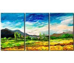 Картины пейзажи - горный пейзаж