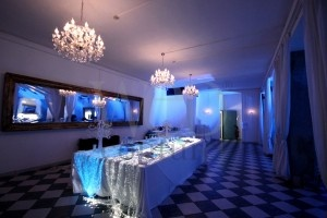 Lighting buffet with fiber optics - Party in blue
