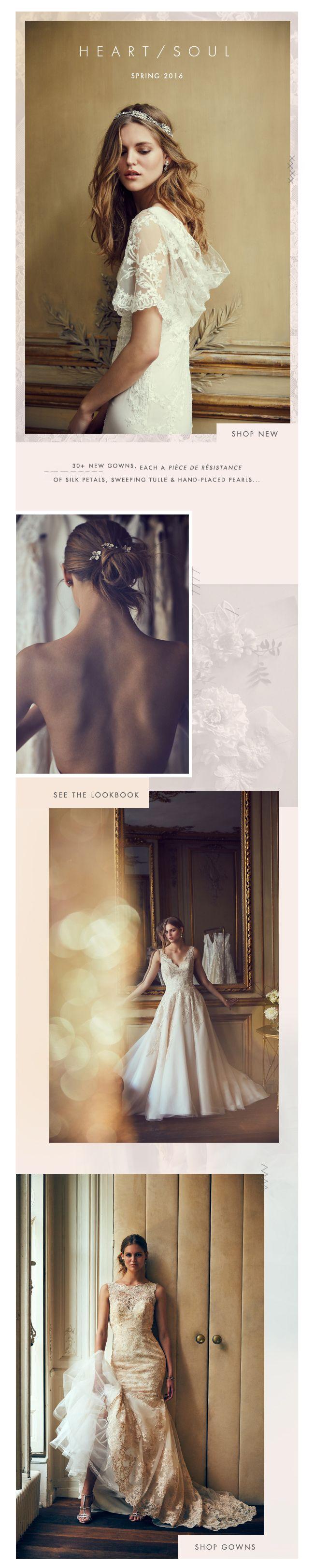 BHLDN | Anthropologie Weddings | Atelier | Gowns | Email Design