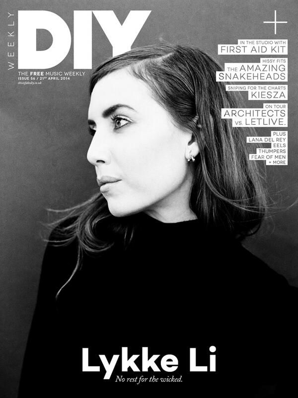 Lykke Li - DIY Magazine 2014 I like the blocked out text!!!