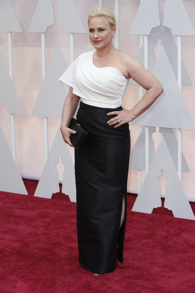 Patricia Arquette, who is favored to win the Best Supporting Actress trophy, bypassed the usual red-carpet guessing game. She announced her intention to wear a gown by her friend, the designer Rosetta Getty, the Los Angeles-based designer, and, lo and behold, she did. (Photo: Noel West for The New York Times)