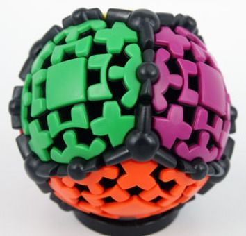 Gear Ball the smoothest turning puzzle ever made,Black body
