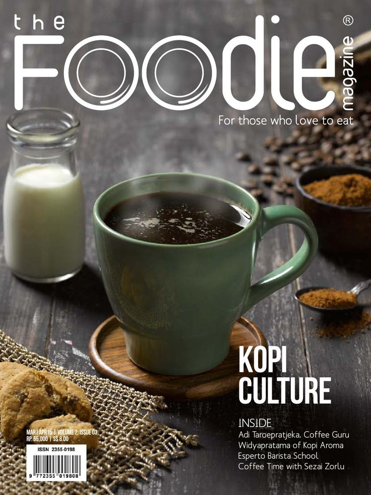 The Foodie Magazine - March - April  2015  Welcome to the coffee issue.  We visited Pak Yoseph Kusuniyanto, a coffee farmer in Bandung. Also met Franky Angkawidjaya of Esperto Barista Course, who has made it his mission to teach about coffee and how to make the perfect cup of coffee. Our Stuff of Legends section features Pak Widyapratama, master roaster of Kopi Aroma. We also feature such coffee personalities as Toni Wahid of the Cikopi blog, Nathalia Gunawan of 1/15 Coffee and Aston Utan…