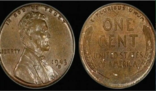 1943 Bronze Copper Penny Not Steel Nickel 1 000 000 00