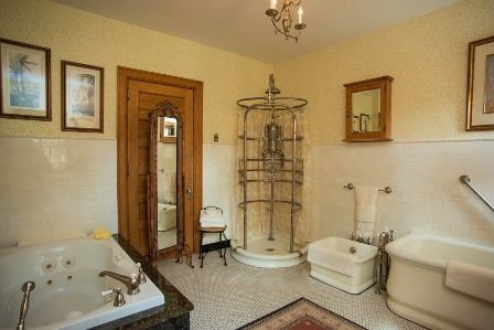 Large Bathroom Features The Original Rib Cage Shower From