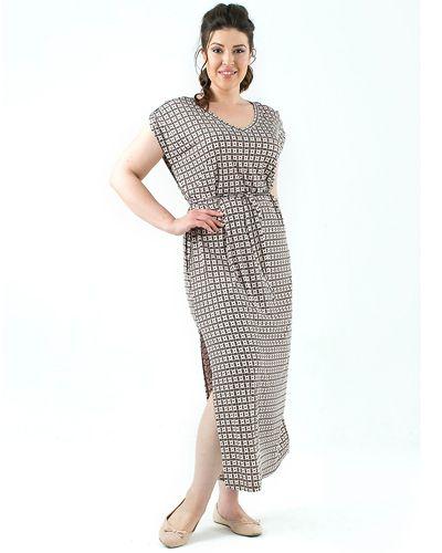 Платье 175605 бежевое
