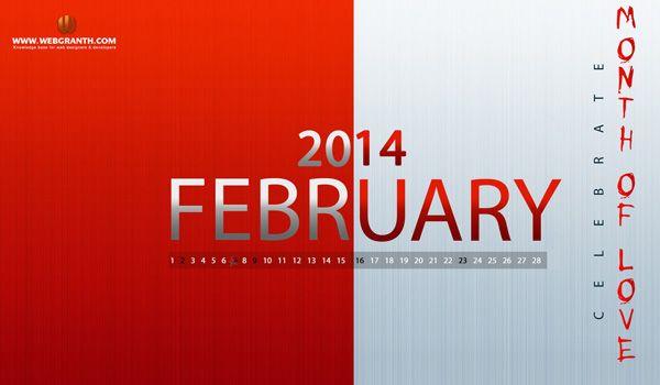 February 2014 calendar wallpaper: Latest wallpaper calendar for February 2014. . . . . http://www.webgranth.com/wallpaper-calendar-2014-download-wallpaper-calendar-2014-free