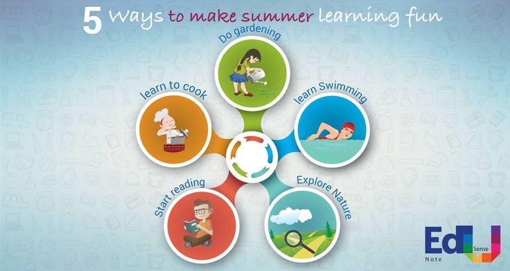 5 ways to make summer learning FUN #EdusenseNote