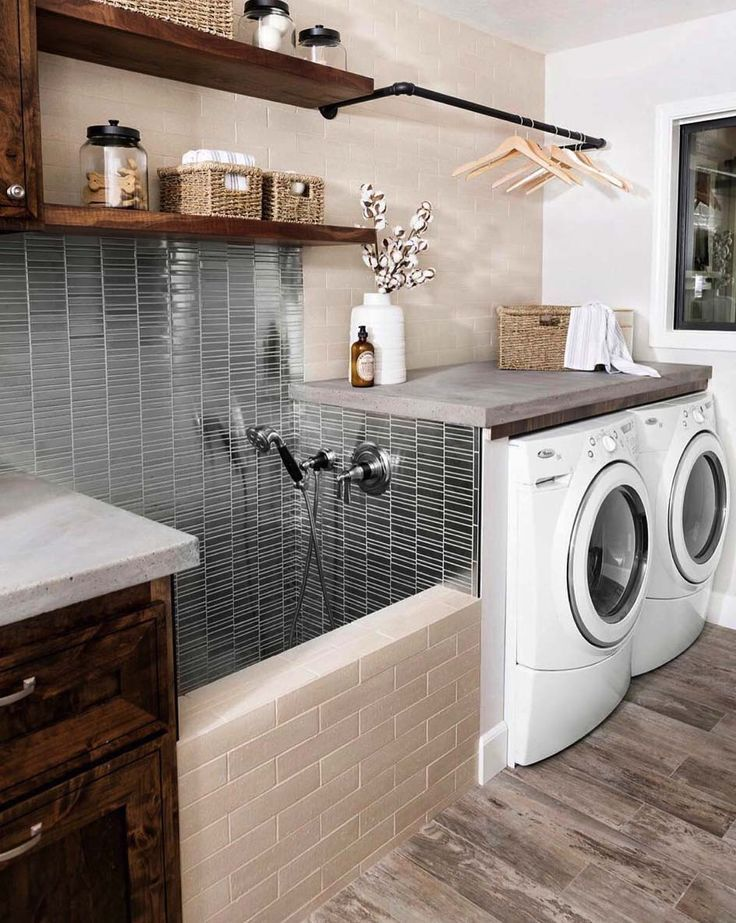 45 Functional And Stylish Laundry Room Design Ideas To Inspire Stylish Laundry Room Dream Laundry Room Laundry Room Inspiration