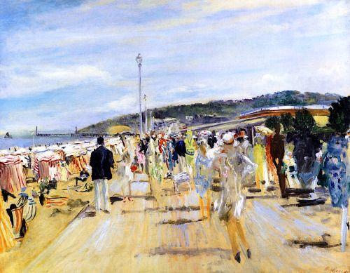 Deauville, the Boardwalk - Lucien Adrion 1929   Eva's blog