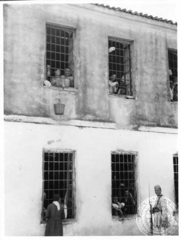 Patras. Prison. 1932; Dorothy Burr Thompson. (Notice the basket on the rope from the upper window.)