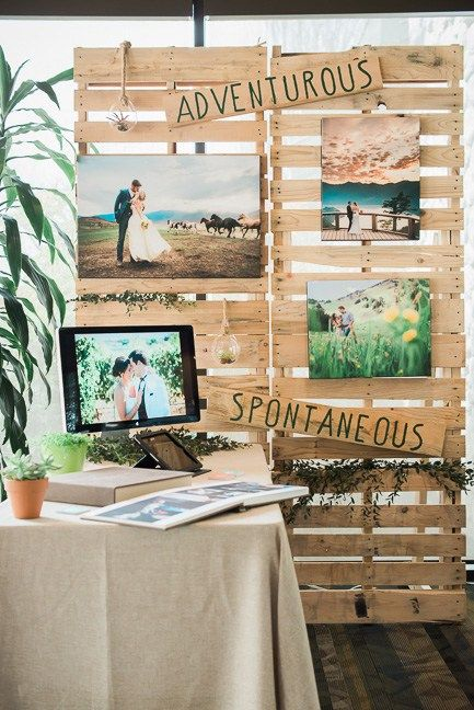 a wedding show booth created with crates #weddingshow #crates
