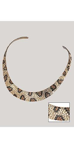 Leopard Print Crystal Necklace