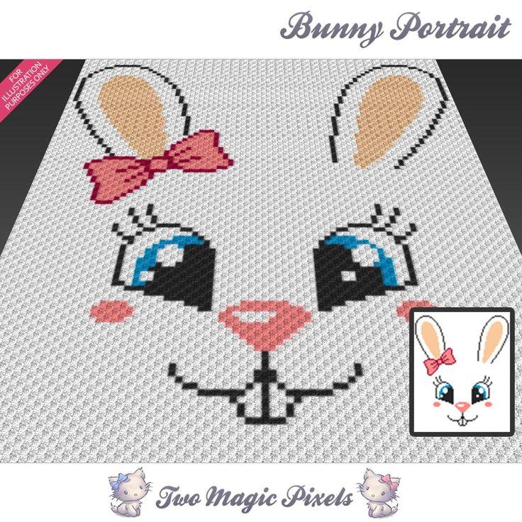 Bunny Portrait  (sc tss c2c cross stitch) | Craftsy