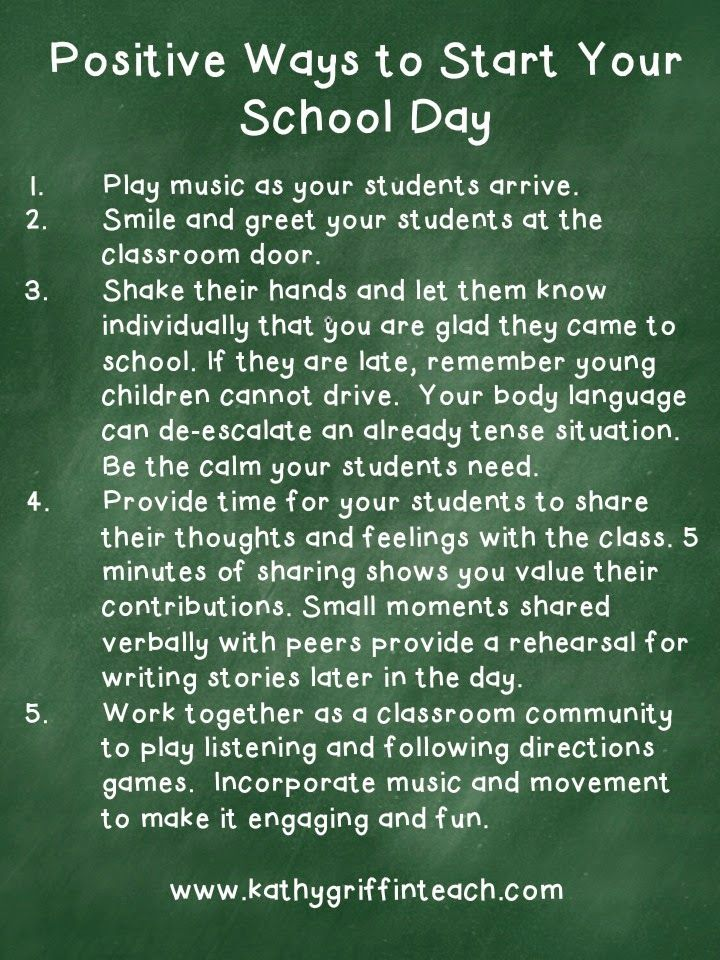 5 Simple, Positive Ways to Start Your School Day