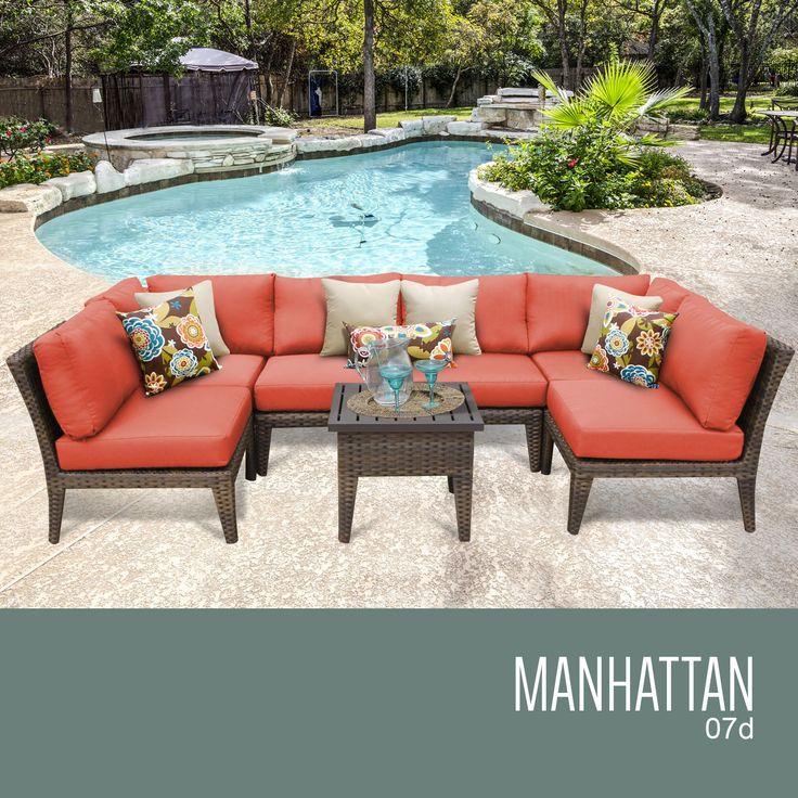 Manhattan 7 Piece Outdoor Wicker Patio Furniture Set 07d