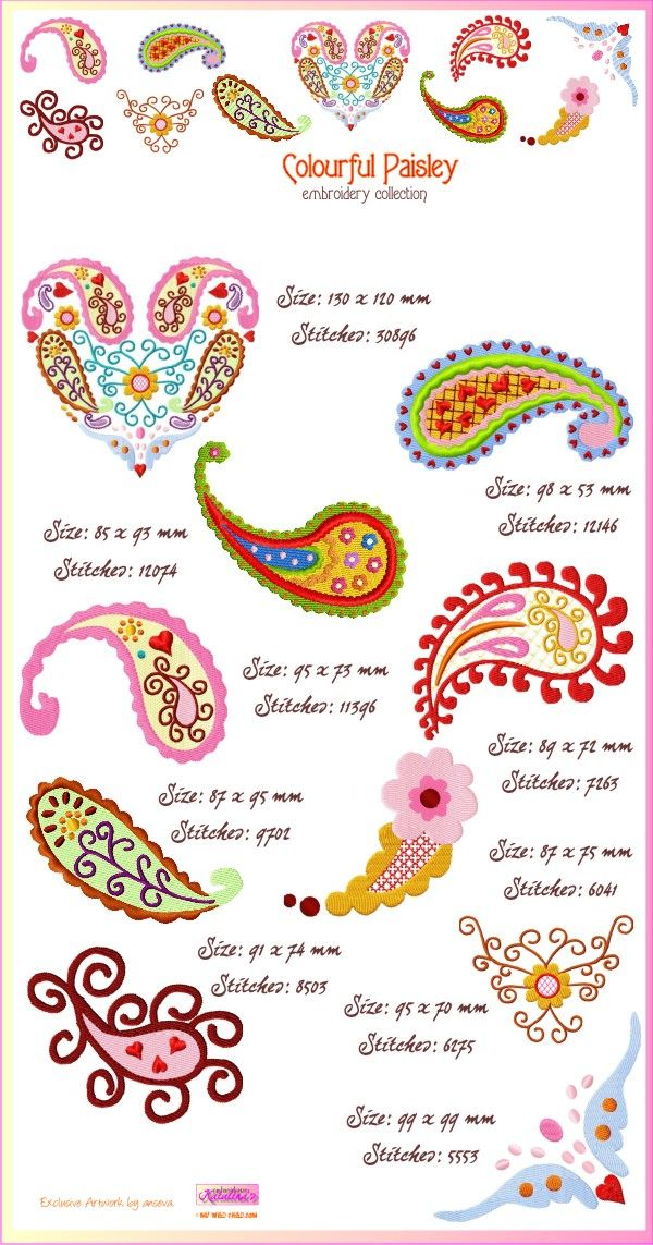 Nice template to use for drawing paisleys