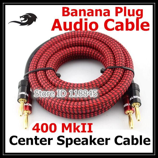 [Visit to Buy] 1m 2m 2.5m 3m - Premium Audiophile Hifi Banana Plug Audio Cable For Home Theater Surround Sound System Amplifier Speaker Wire #Advertisement