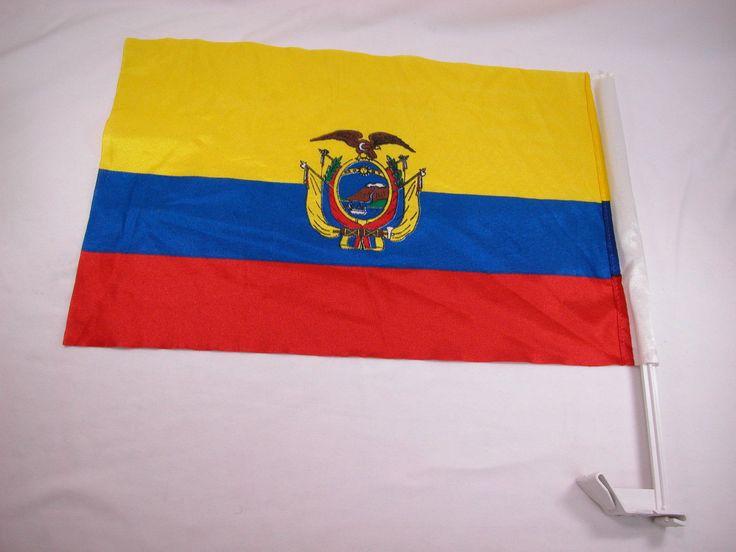 Closeout Ecuador Bandera Car Window Flag World Cup Championship FIFA Soccer