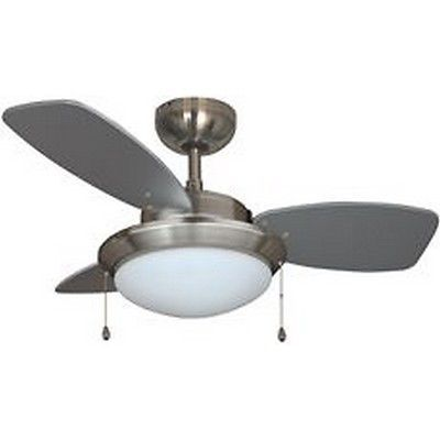 Ceiling Fans 176937: Royal Cove 3-Blade Dual-Mount Ceiling Fan With Light Kit, Brushed Chrome, 30 In. -> BUY IT NOW ONLY: $58.54 on eBay!