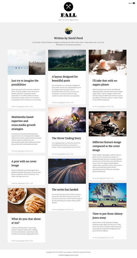 Fall - WordPress Blogging Theme | Obox Themes
