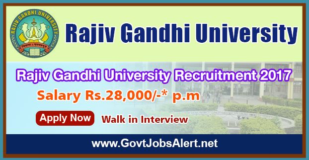 """Rajiv Gandhi University Recruitment 2017 – Walk in Interview for Junior Research Fellow (JRF)/ Senior Research Fellow (SRF) Post, Salary Rs.28, 000/- : Apply Now !!!  The Rajiv Gandhi University Recruitment 2017 has released an official employment notification inviting interested and eligible candidates to apply for the positions of Junior Research Fellow (JRF)/ Senior Research Fellow (SRF) in sponsored project entitled, """"Attempt to domesticate and breed some native orn"""