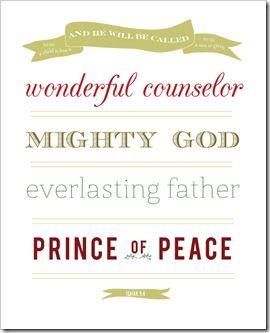 Free Christmas printable: Prince Of Peace, Christmas Art, Art Prints, Christmas Printables, Mighty God, Diy Gifts, Free Prints, Free Printable, Jones Design Company