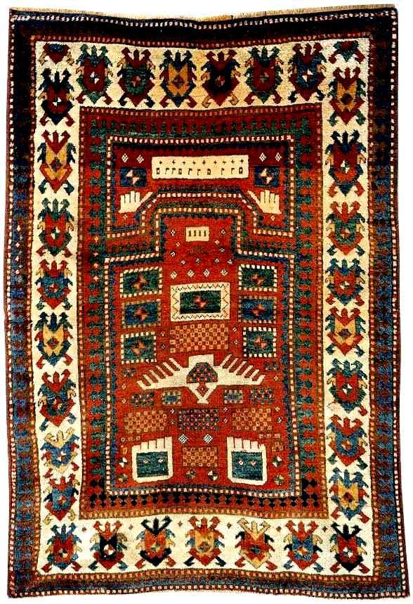 Karachopf Kazak Rugs: The Alberto Levi Karachop Kazak prayer rug