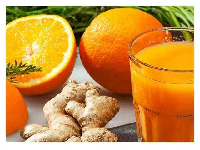 naranja y jengibre Remedios caseros para limpiar el higado