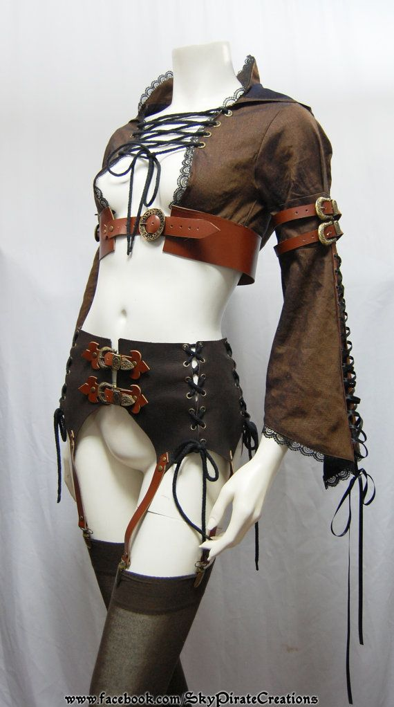 Steampunk Kalifa Garter Girdle by SkyPirateCreations on Etsy