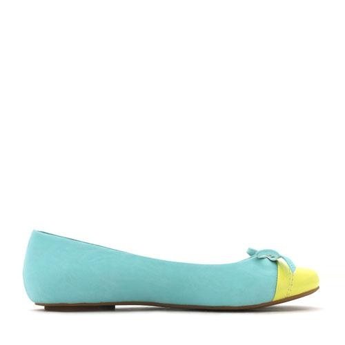 Betts: Confection- Blue/Yellow-- Just because you wants to wear flats, doesn't mean that it has to be boring black!