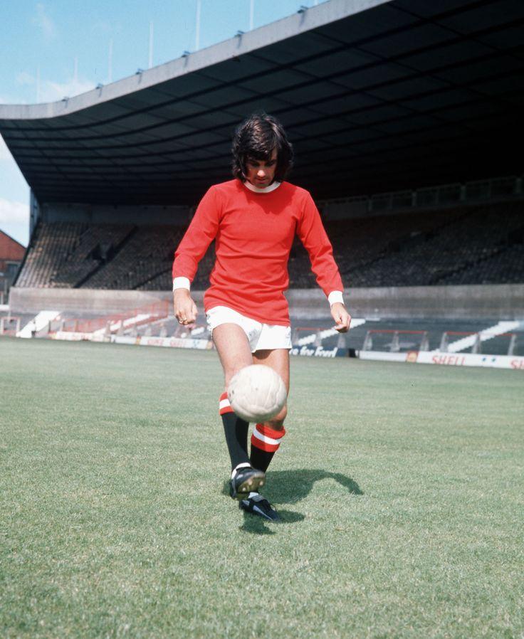 @manutd legend George Best performs some keepy-ups at Old Trafford in 1971.