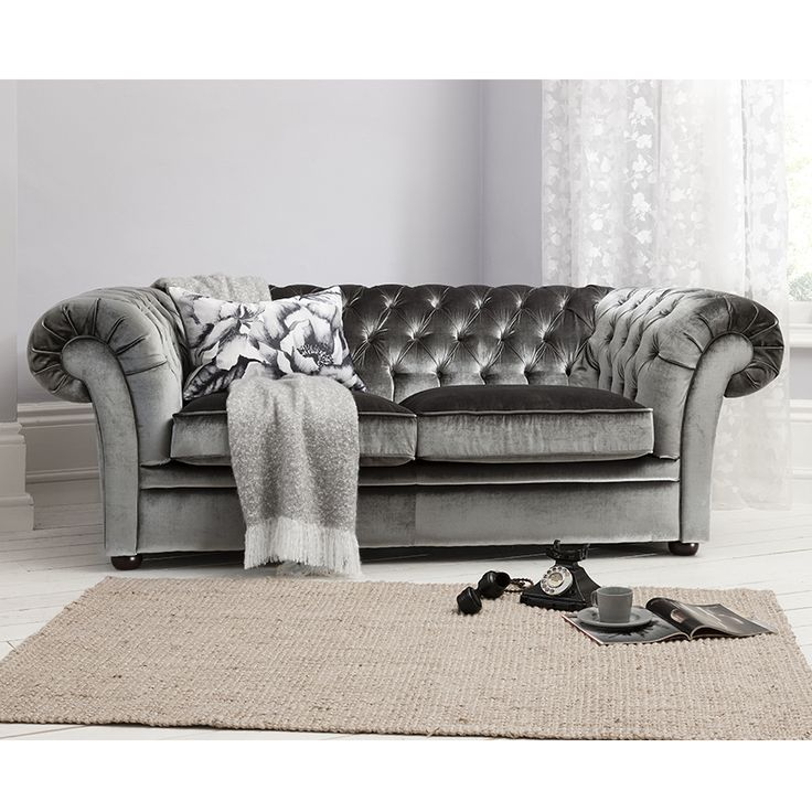 Sarina Sofa In Grey By Gallery Homewares Sumptuous Dark