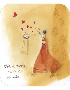 """Anne-Sophie Rutsaert carte postale """"C'est la tendressse..."""""""