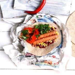 Wraps med Quorn Filé och grönsaker