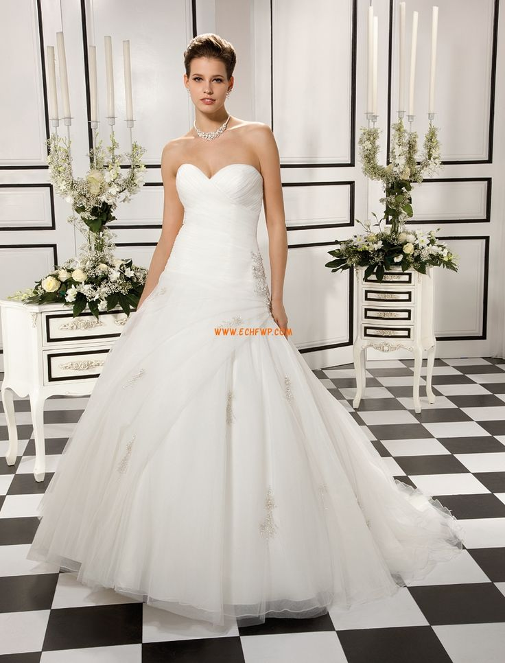 Princess Chapel Train Summer Wedding Dresses 2014