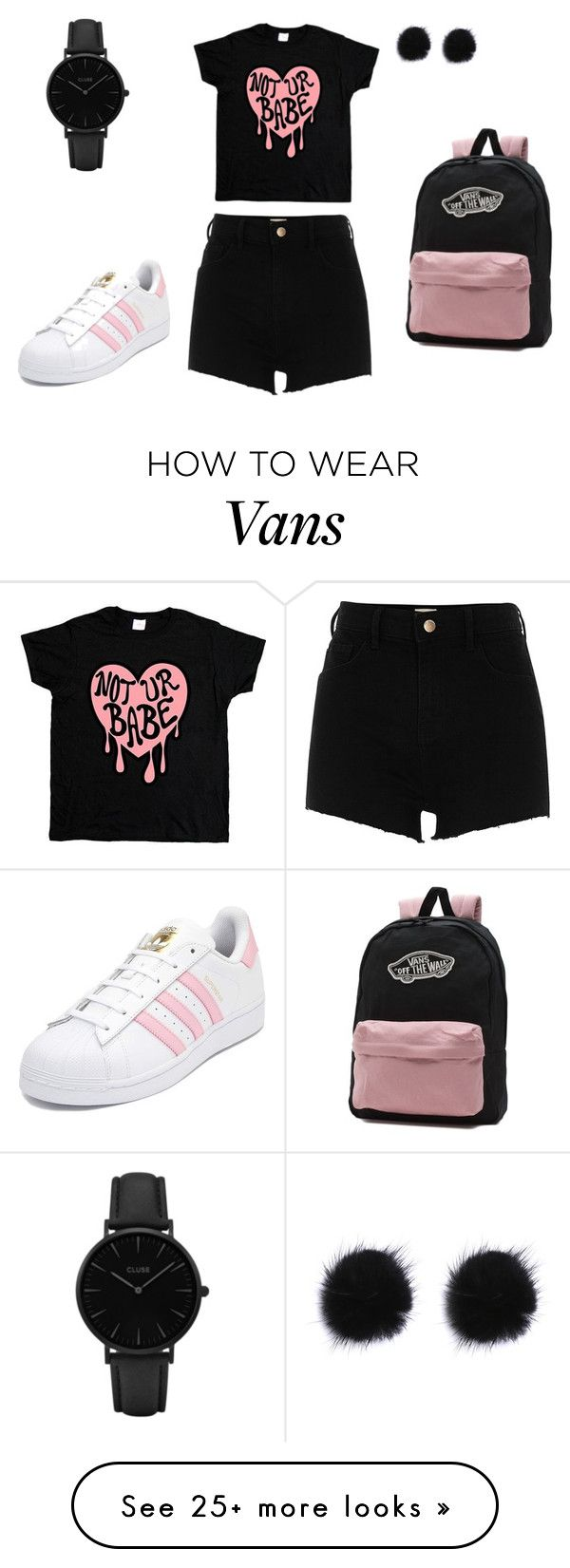 """""""Без названия #1521"""" by martusha200 on Polyvore featuring CLUSE, River Island, adidas and Vans"""